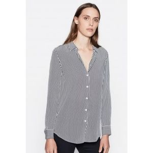 Equipment silk button up top